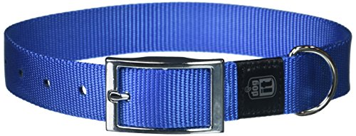 (Dogit Nylon Single Ply Dog Collar with Buckle, X-Large, 20-Inch, Blue)