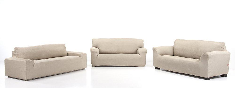 Belmarti Toronto - Funda sofa elástica Patternfit, 2 Plazas, color Lino