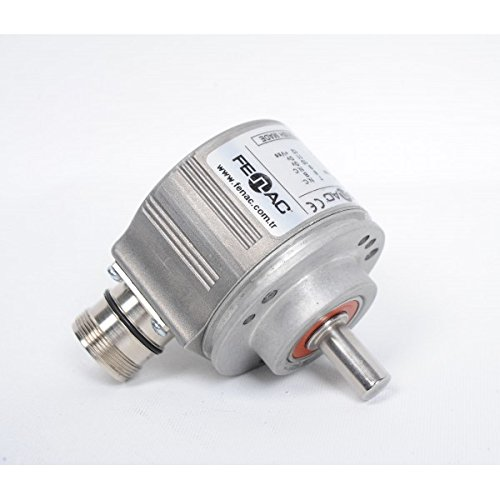 Fenac FNC 58B 10630V2048-R2 Incremental Encoder 58mm Body Diameter 2048PPR 10mm Solid Shaft Clamping Flange 6 Channel 2m Cable 5-30V in//Out