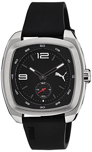 PUMA Time roadster black dial black strap PU103081001 men's [regular imported goods]