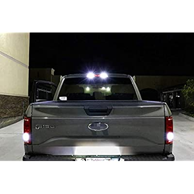 iJDMTOY Complete 6pcs Super Bright Xenon White LED License Plate, Backup and High Mount Clearance Lights Combo Kit Compatible With 2020-up Ford F150, 2020-up F250 F350: Automotive