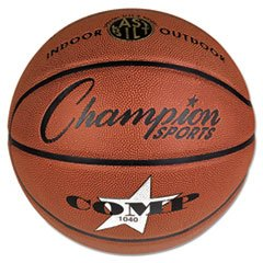Composite Basketball, Official Junior, 27.75'', Brown By: Champion Sports