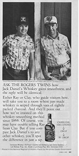 Magazine Print ad: 1982 Jack Daniels Old No 7 Tennessee Whiskey, Vistor