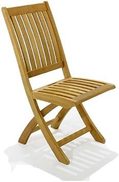 Amazon.com: Barbuda plegable silla de comedor de teca ...