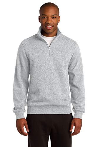 (Sport-Tek Men's 1/4 Zip Sweatshirt M Athletic Heather)