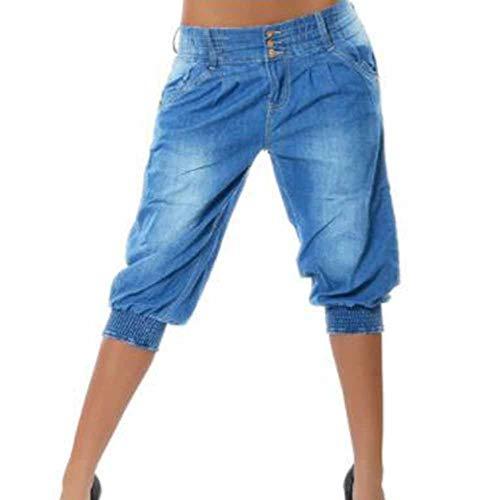 Fashion Jeans Pantaloni Harem Donna Nostalgic Da Chiaro Blu Boyfriend 2 Keephen C5pgcOWxFC