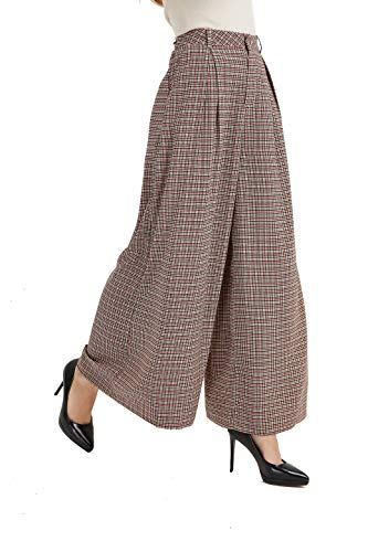 (Tronjori Women High Waist Casual Wide Leg Long Palazzo Pants Trousers(XXL, Multi)