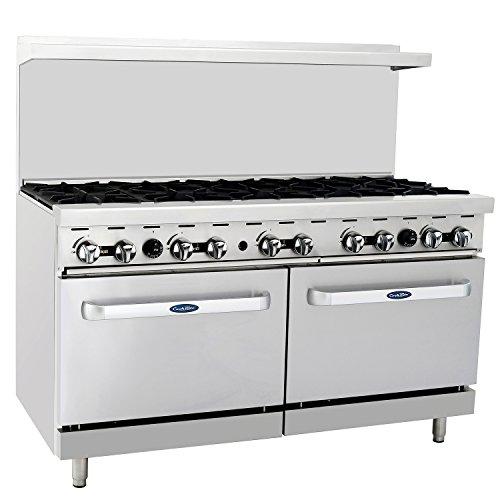 "CookRite ATO-10B Commercial Manual Liquid Propane Range 10 Burner Hotplates With 2 Standard Ovens 60""-284000 BTU"
