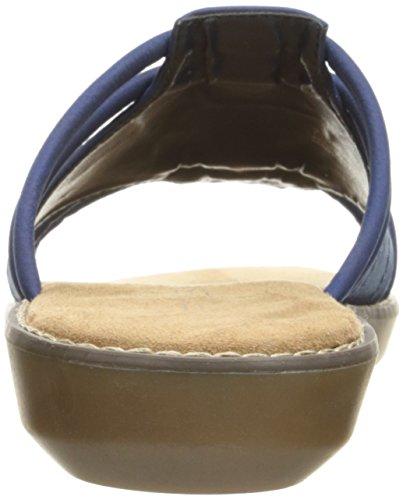 Aerosoles Womens Super Cool Slide Sandal Blue DNqeT