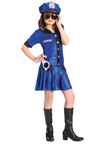 [POLICE GIRL CHILD 8-10] (Kids Convict Costume Ideas)