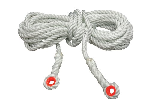 Elk River 49802 Construction Plus Lifeline Rope with Thimble Eye Connector, 5/8