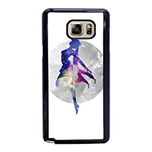 Wunatin Hard Case ,Samsung Galaxy Note 5 Cell Phone Case Black Sailor Moon [with Free Tempered Glass Screen Protector] BA-9892247