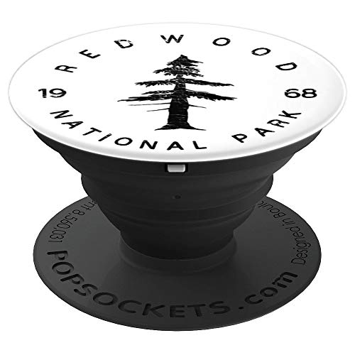 Redwood National Park USA Parks Travel California Adventure - PopSockets Grip and Stand for Phones and Tablets