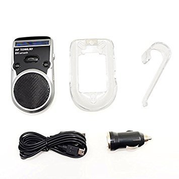TOOGOO(R) Bluetooth Handsfree Car Kit Solar Powered Charging Sun Visor Reversible Display Voice Dial Speakerphone
