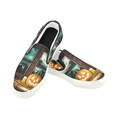 D-story Custom Happy Halloween Zucca Uomo Slip-on Scarpe Di Tela Moda Sneaker Multicoloured7