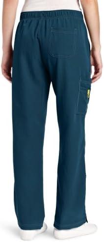 WonderWink womens Four-stretch Sporty Cargo Medical Scrubs Pants, Blue, Medium US