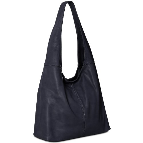 Tote Leather Soft many Handbag Blue Shopper Bag from made CASPAR Nappa colours TL610 Shoulder Womens Dark XAwx8B
