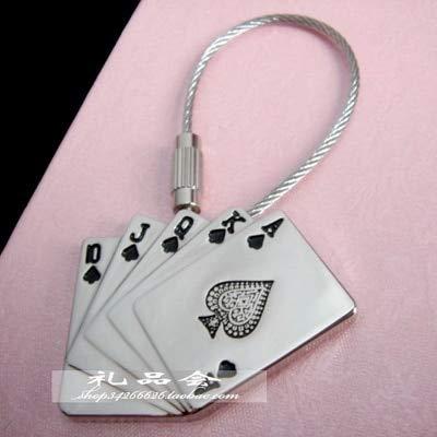 Amazon.com: Occus Poker Keychain Key Ring Wire Rope Key ...