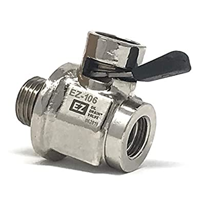 EZ-106 EZ Oil Drain Valve with removable Hose End Combo: Automotive