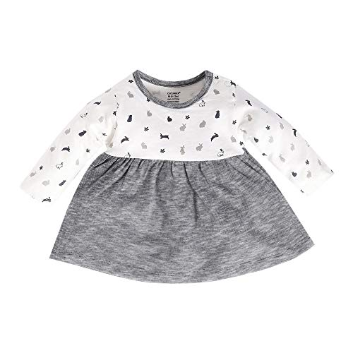 Hopscotch Cucumber Girls 100% Cotton Full Sleeves All Over Printed Dress in Black Color