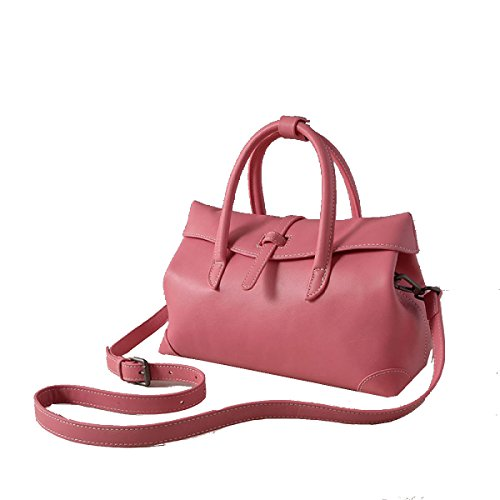 Yy.f Nuevos Bolsos De Cuero Señoras Forma Simples Bolsas De Cuero Bolso De Hombro En Diagonal De 3 Colores Red