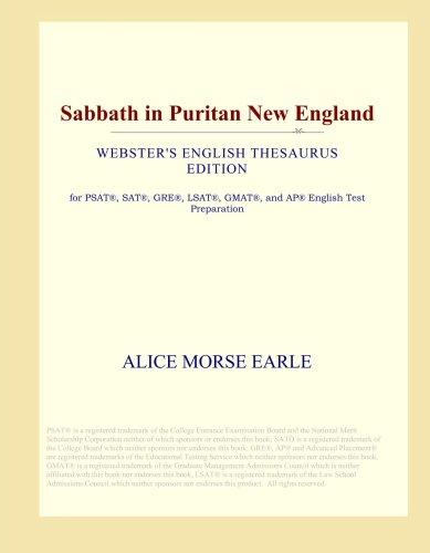 Sabbath in Puritan New England (Webster's English Thesaurus Edition) - Japan Puritan