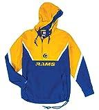 Mitchell & Ness St. Louis Rams NFL Half Zip Anorak Throwback Jacket Men's