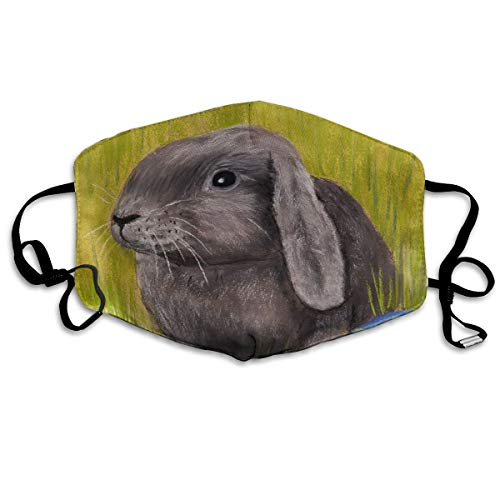 Anti Dust Mask Easter Bunny Painting Face Mask Winter Healthy Warm for Men Halloween