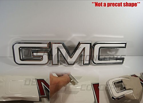 Overlay Kit (GMC Sierra / Yukon Gloss White Front Grill Emblem Overlay Wrap Kit (07-17))