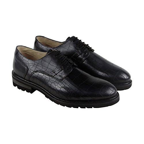 Gbx Black Shoes (GBX Brenner Mens Black Leather Casual Dress Lace Up Oxfords Shoes 11)