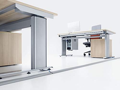 halbrunde Kabelbr/ücke f/ür bis zu 3 Kabel Breite 7,5 cm L/änge 1,5 m Habengut Fu/ßboden-Kabelf/ührung aus PVC Grau