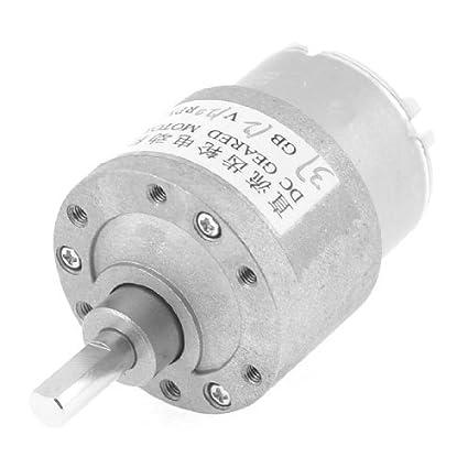 DealMux 12V DC 120 rpm potente par de caja de cambios Caja de engranajes del motor