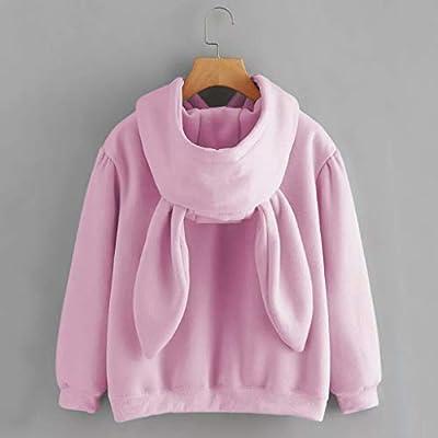 Meikosks Women Winter Warm Hoodie Coat Cute Bear Ear Panda Sweatshirt Plush Zip Up Jacket Outerwear: Clothing