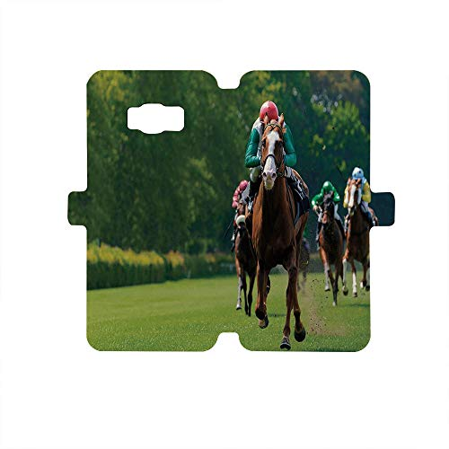 - Painted Galaxy S8 Case - Premium Protective Cover Phone Cases for Girls,Man Cave Decor,Several Racehorses with Jockeys Horse Race Competition Sports Venue Greenery Decorative,Multicolor