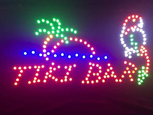 Paradise Tiki Bar Sign (Lights Outdoor Bar Tiki)