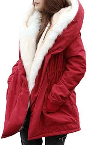 ed88aebd76c DongDong Clearance❤New Women s Faux Fur Plus Size Coat Winter Warm Thick  Jacket Parka Hooded