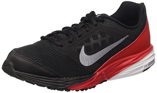Nike Tri Fusion Run (Gs), Zapatillas de Running Para Niños Negro / Gris / Rojo / Blanco (Blk / Mtlc Cl Gry-Unvrsty Rd-Whi)
