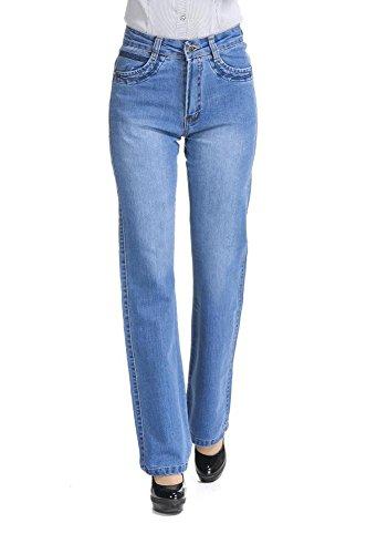 Womens Bootcut Blue Jeans - 6