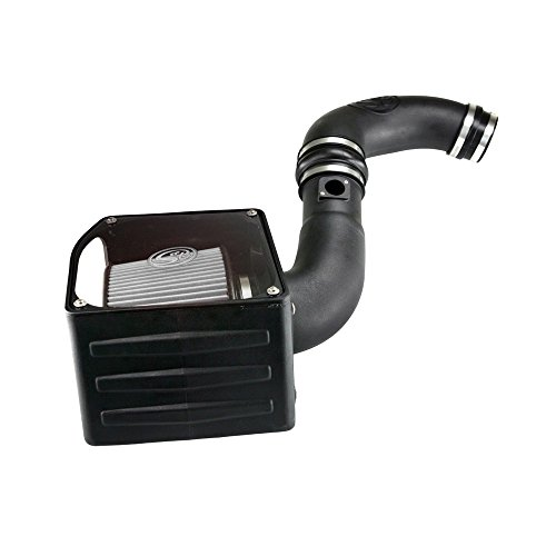 S&B Filters 75-5038D Cold Air Intake Kit for 2004-2005 Duramax Silverado/Sierra 2500 3500 6.6L LLY (Dry Disposable Filter)