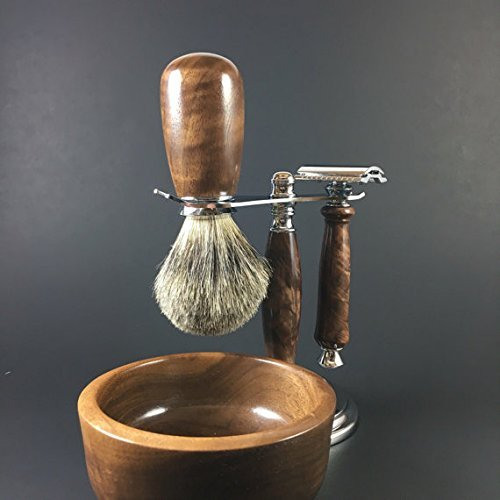 Men's Shaving Kit Hand-crafted from Black Walnut by Always Turning Woodworks