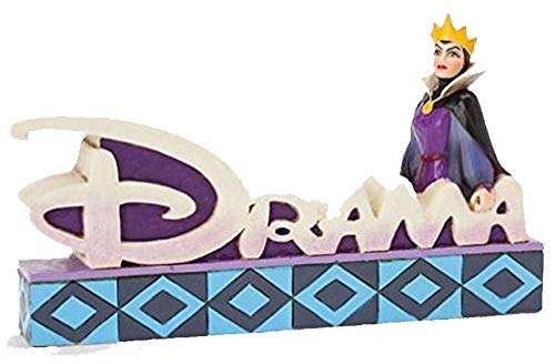 Jim Shore Disney Snow White Evil Queen Drama Word Plaque Figurine 4038491