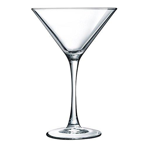 Luminarc N4132 ARC International Atlas Martini Glass (Set of 4), 7.5 oz, Clear,
