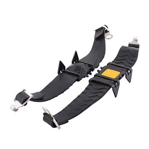 (eDealMax Silicone Arrampicata Quattro Denti Non Slip Crampons Neve alpinismo Crampon 2pcs Nero)