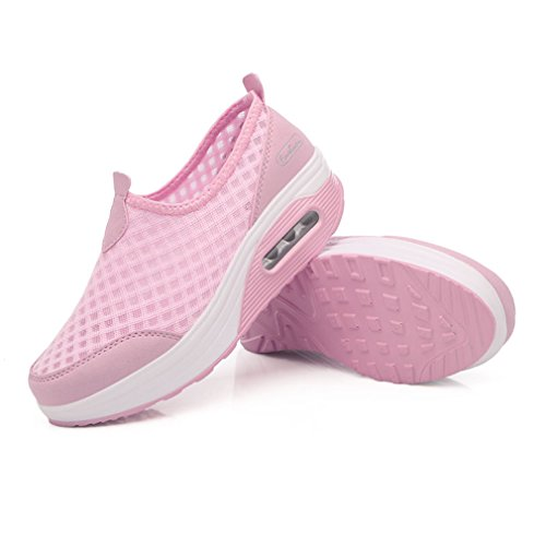 enfiler Plateforme Baskets XMeden sport Peigne Chaussure Honey en de maille Womens solide à wqqxtS8U