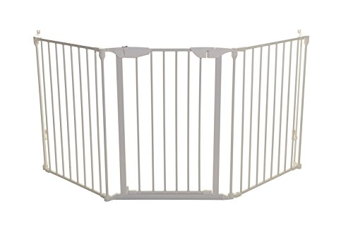 Angle Stair - Dreambaby Newport Adapta Baby Gate - Use at Top or Bottom of Stairs - For straight, angled or irregular shaped openings (White)