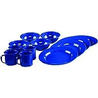 Coleman - Juego de vajilla esmaltado de 12 piezas, azul