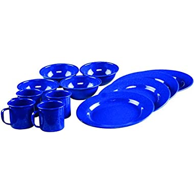 Coleman 12-Piece Enamel Dinnerware Set