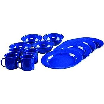 Coleman 12-Piece Enamel Dinnerware Set