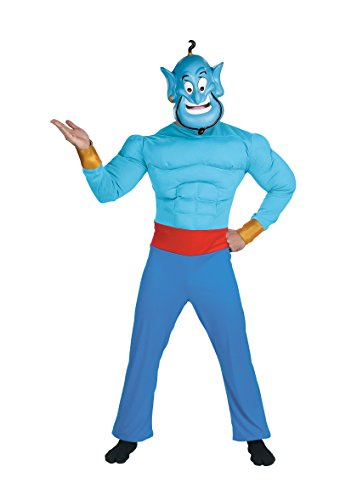 Aladdin Genie Mask (DIS5955 (XL42-46) Aladdin Muscle Genie Costume)