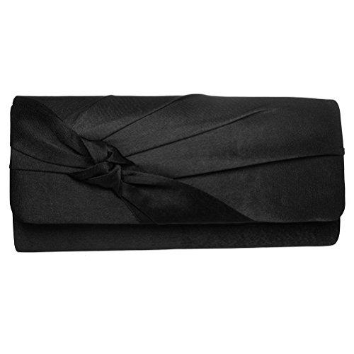 Black Evening Wedding For Purse Clutch Prom Silk Bag Bow Clutch FASHIONROAD Bridal Party qUp6q47w
